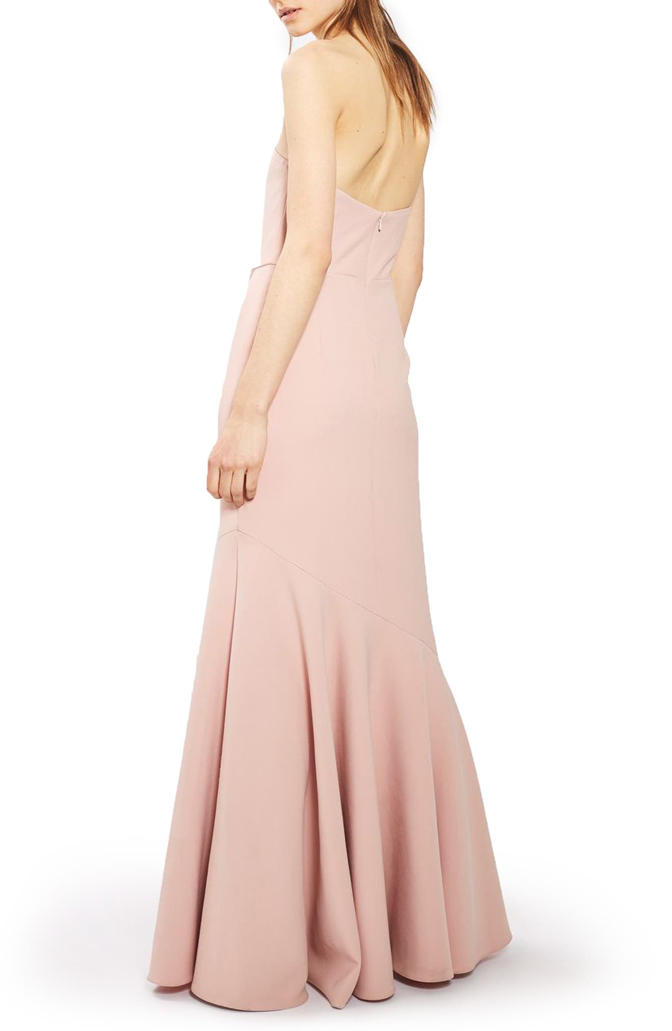 ,                             Strapless Crepe Gown,                             Alternate thumbnail 2, color,                             680