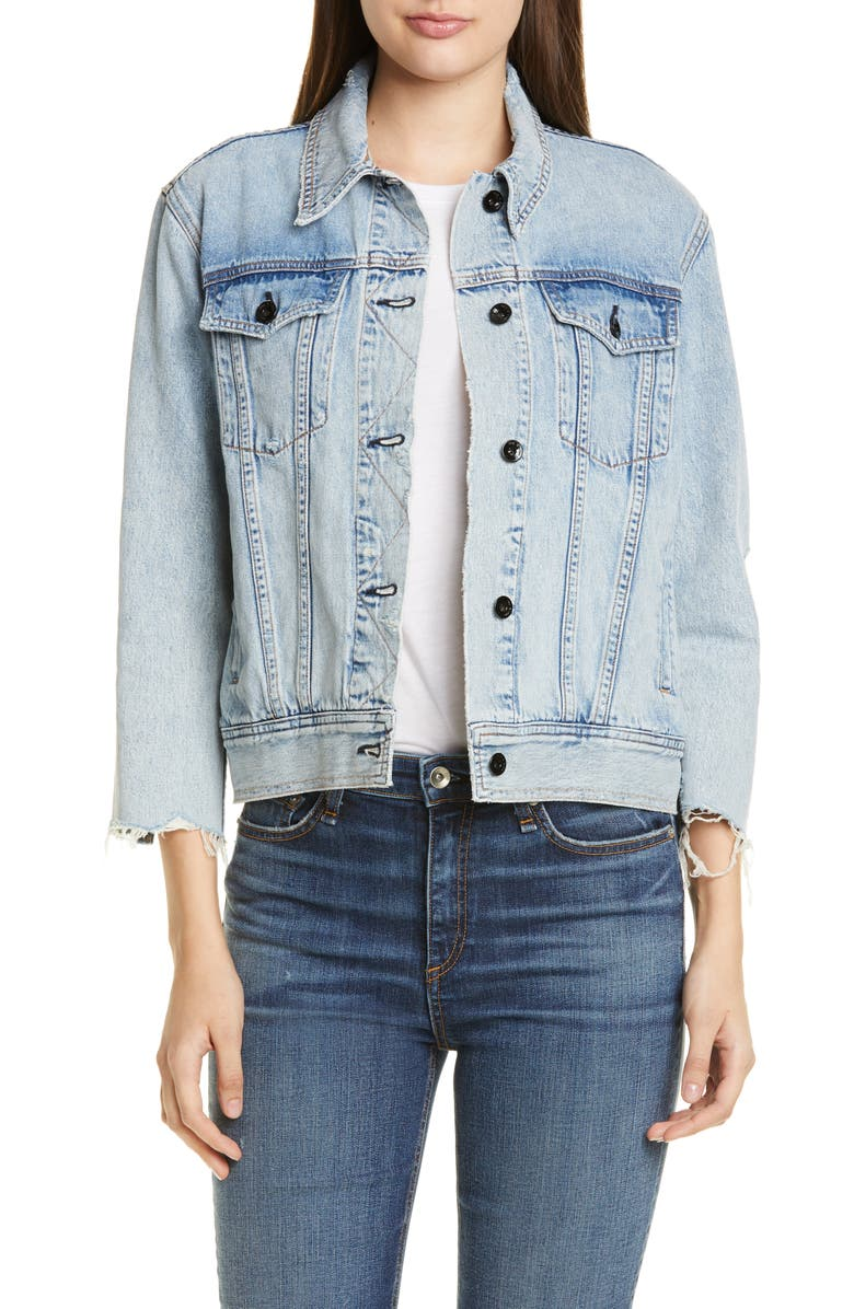 RAG & BONE Oversize Denim Jacket, Main, color, OLSON