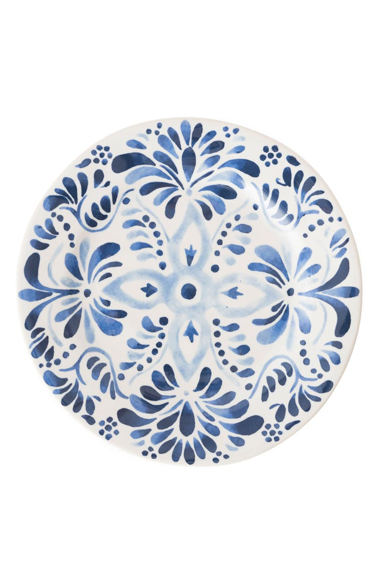 JULISKA Wanderlust Collection - Iberian Journey Ceramic Salad/Dessert Plate, Main, color, INDIGO