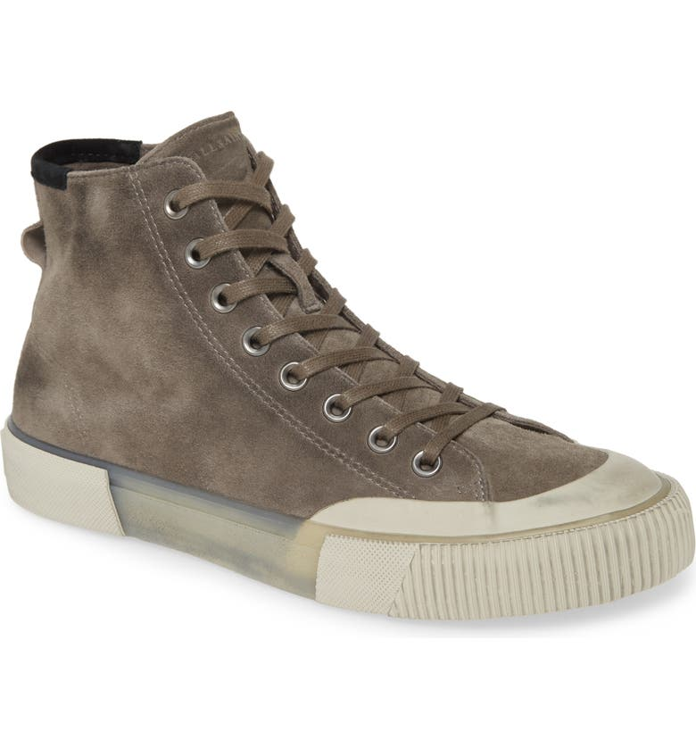 ALLSAINTS Dumount High Top Sneaker, Main, color, SLATE GREY
