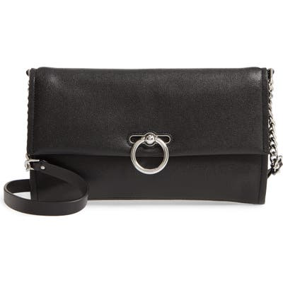 Rebecca Minkoff Jean Convertible Leather Crossbody Bag - Black