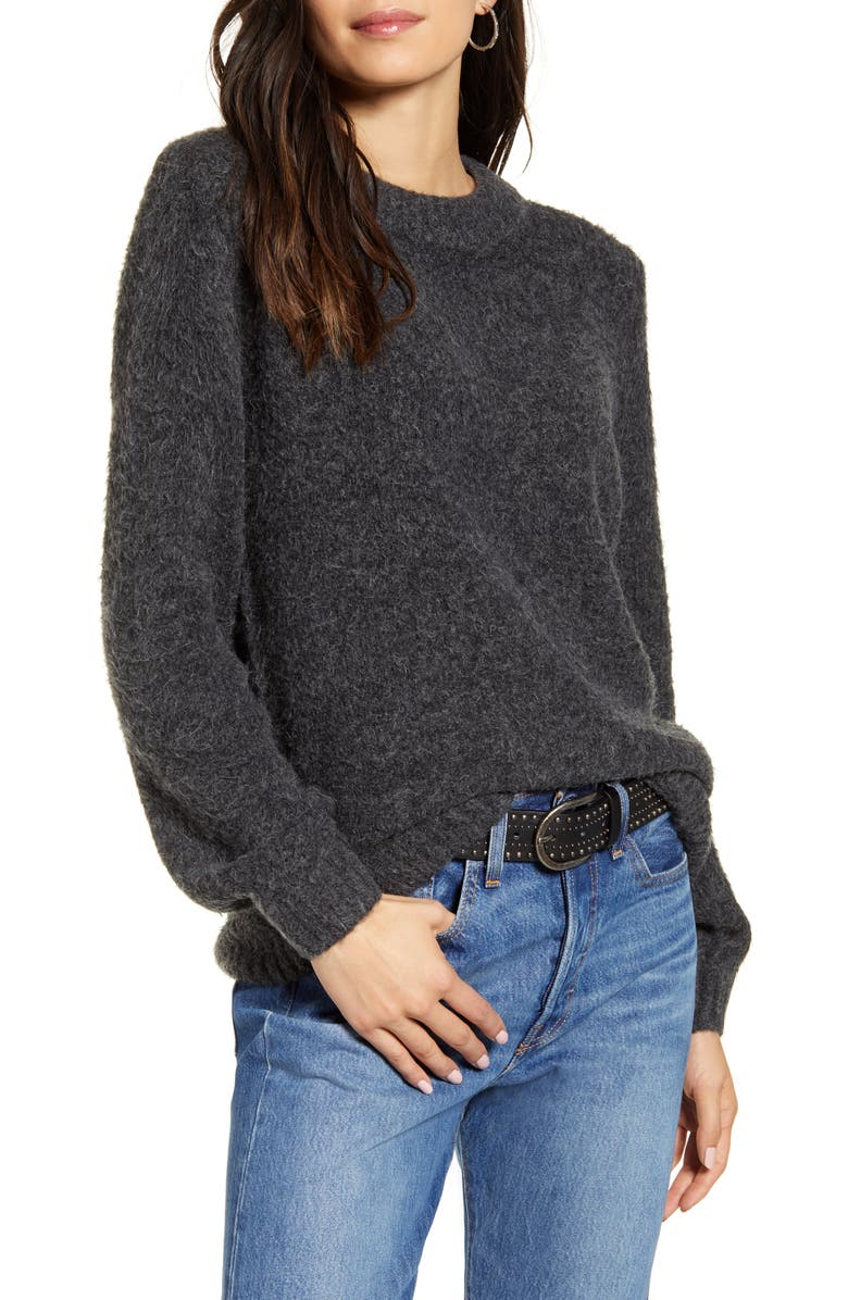TREASURE & BOND Crewneck Sweater, Main, color, GREY DARK CHARCOAL HEATHER