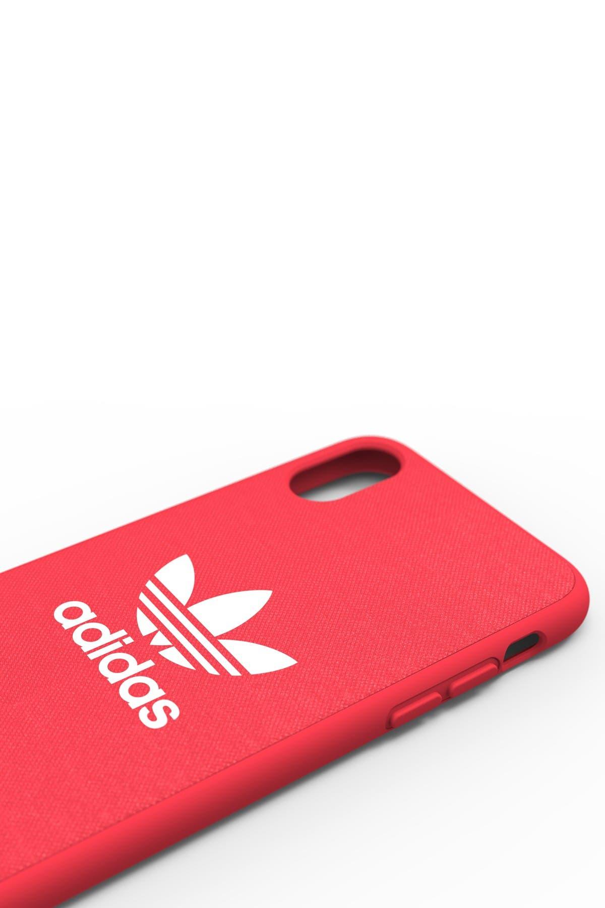 Adidas Red Adicolor Snap iPhone X Case