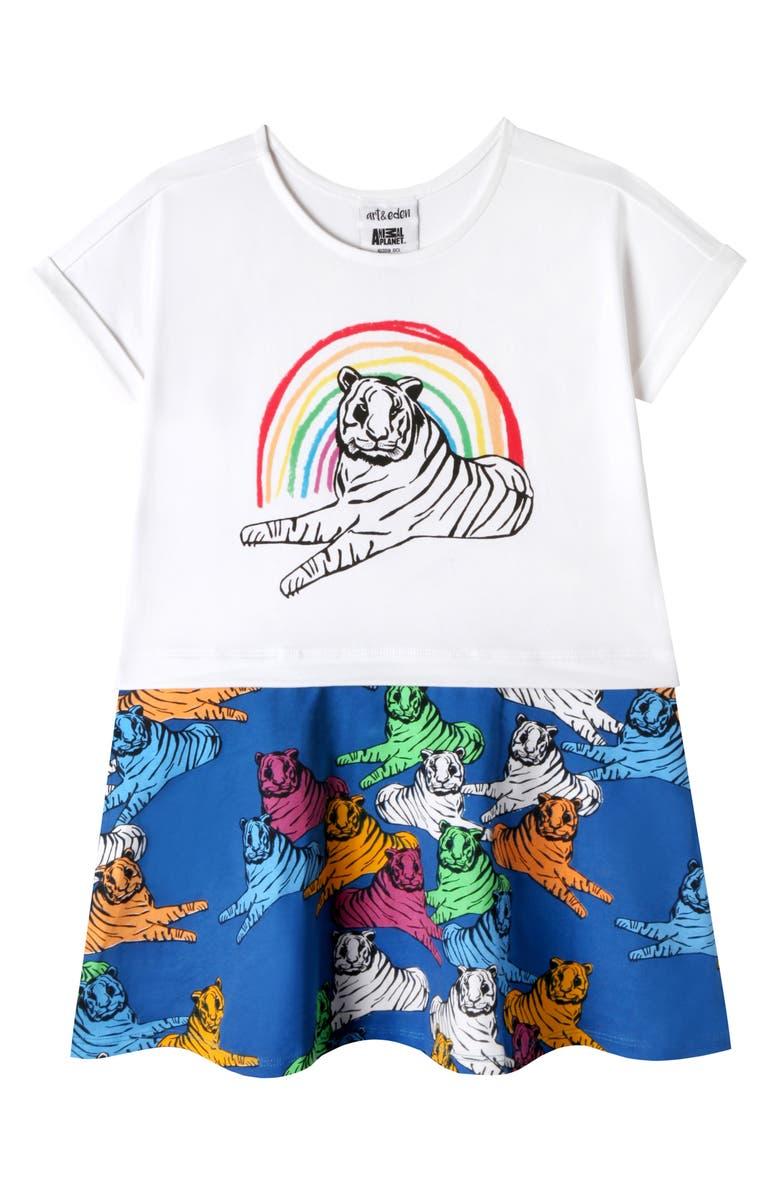 ART & EDEN x Animal Planet Sahara T-Shirt Dress, Main, color, 152