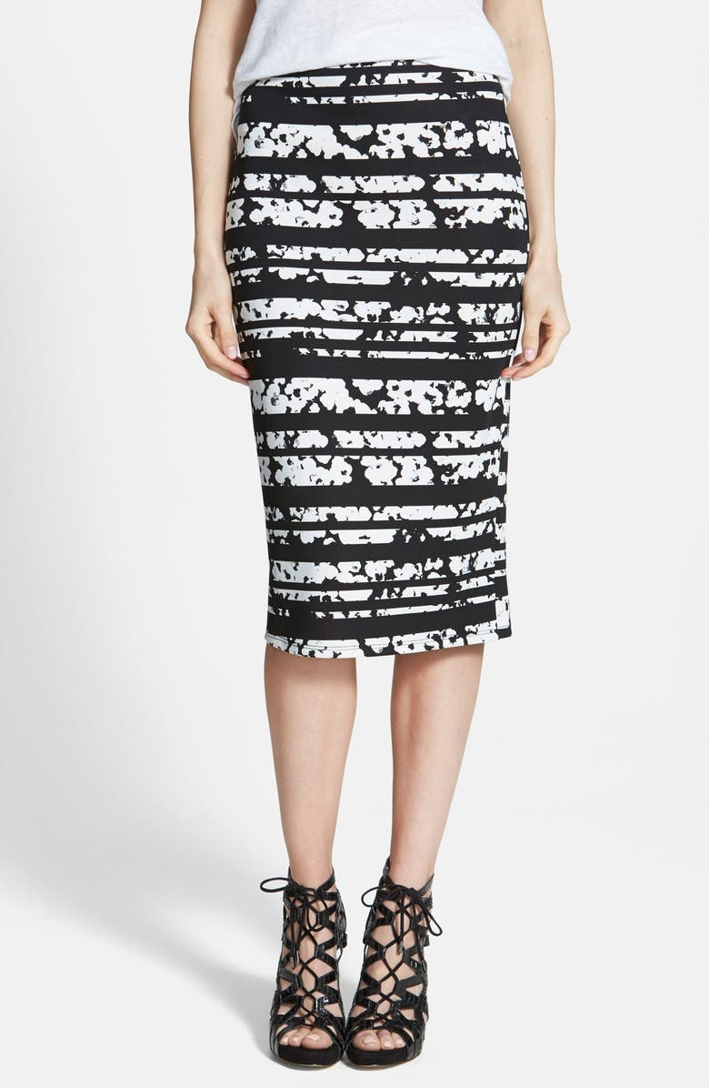 LEITH Print Midi Skirt, Main, color, 001