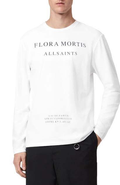 Allsaints FLORA MORTIS LONG SLEEVE GRAPHIC TEE