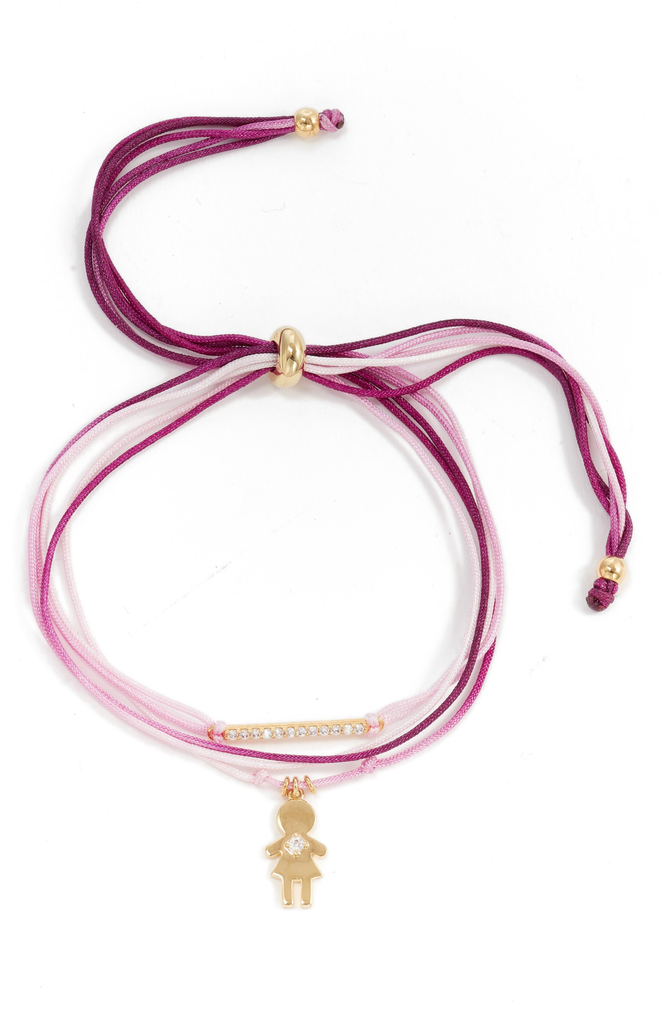 Image of Nordstrom Girl Charm Friendship Bracelet