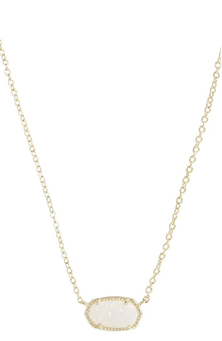 KENDRA SCOTT Elisa Pendant Necklace, Main, color, IRIDESCENT DRUSY/ GOLD
