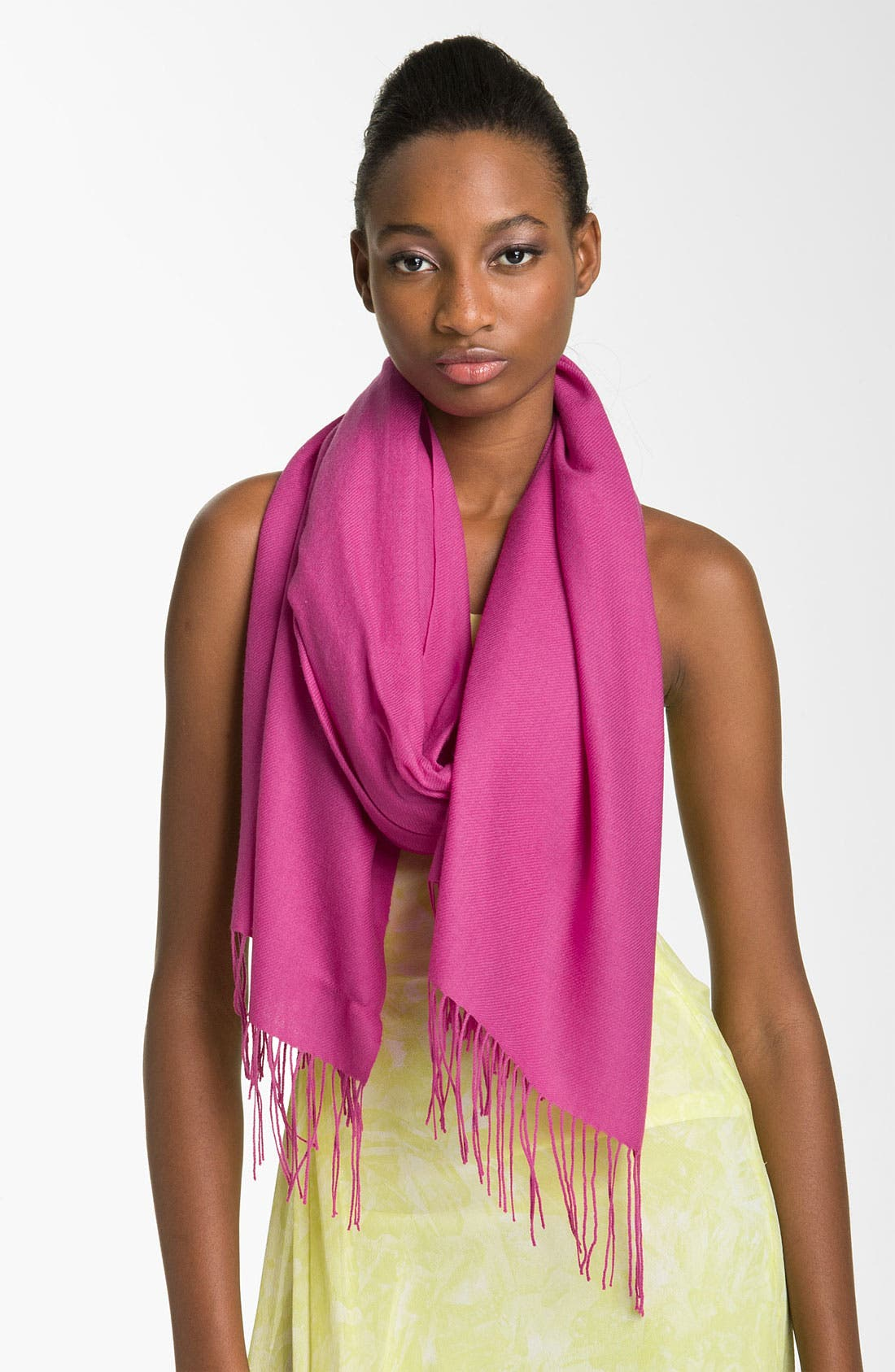 ,                             Tissue Weight Wool & Cashmere Wrap,                             Main thumbnail 186, color,                             691