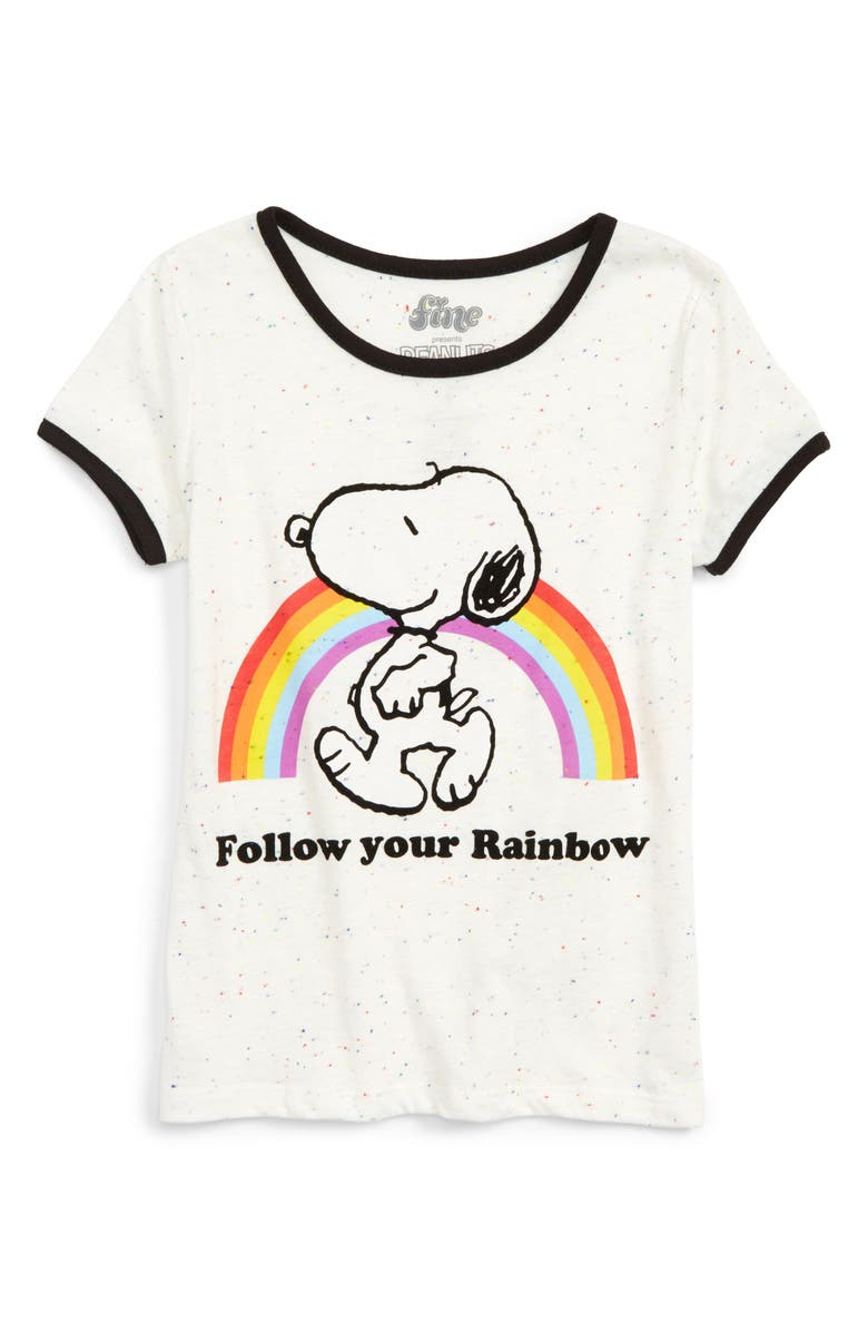 f203afa02 Mighty Fine x Peanuts® Snoopy Rainbow Tee (Toddler Girls, Little ...