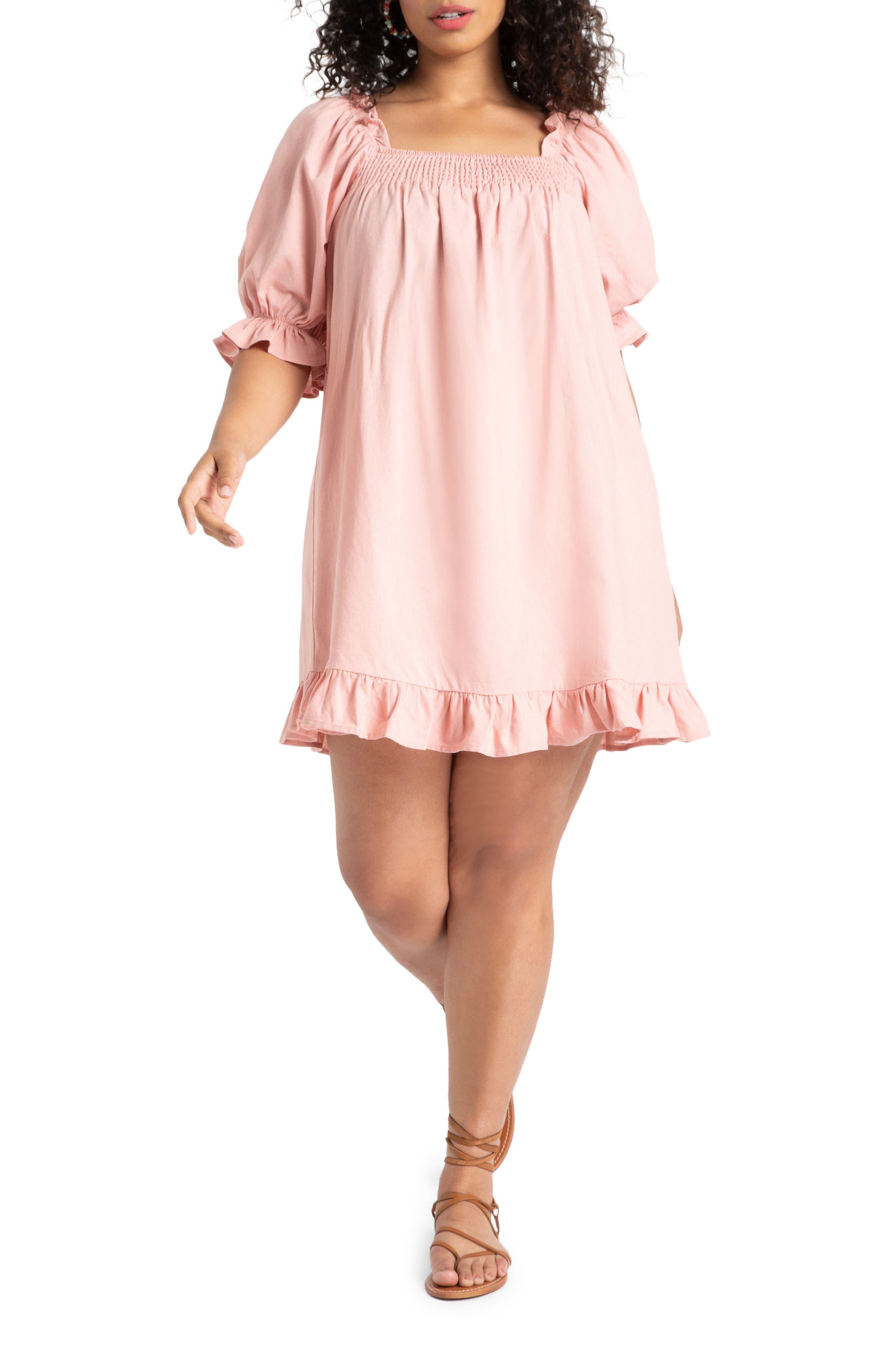 Smocked Minidress