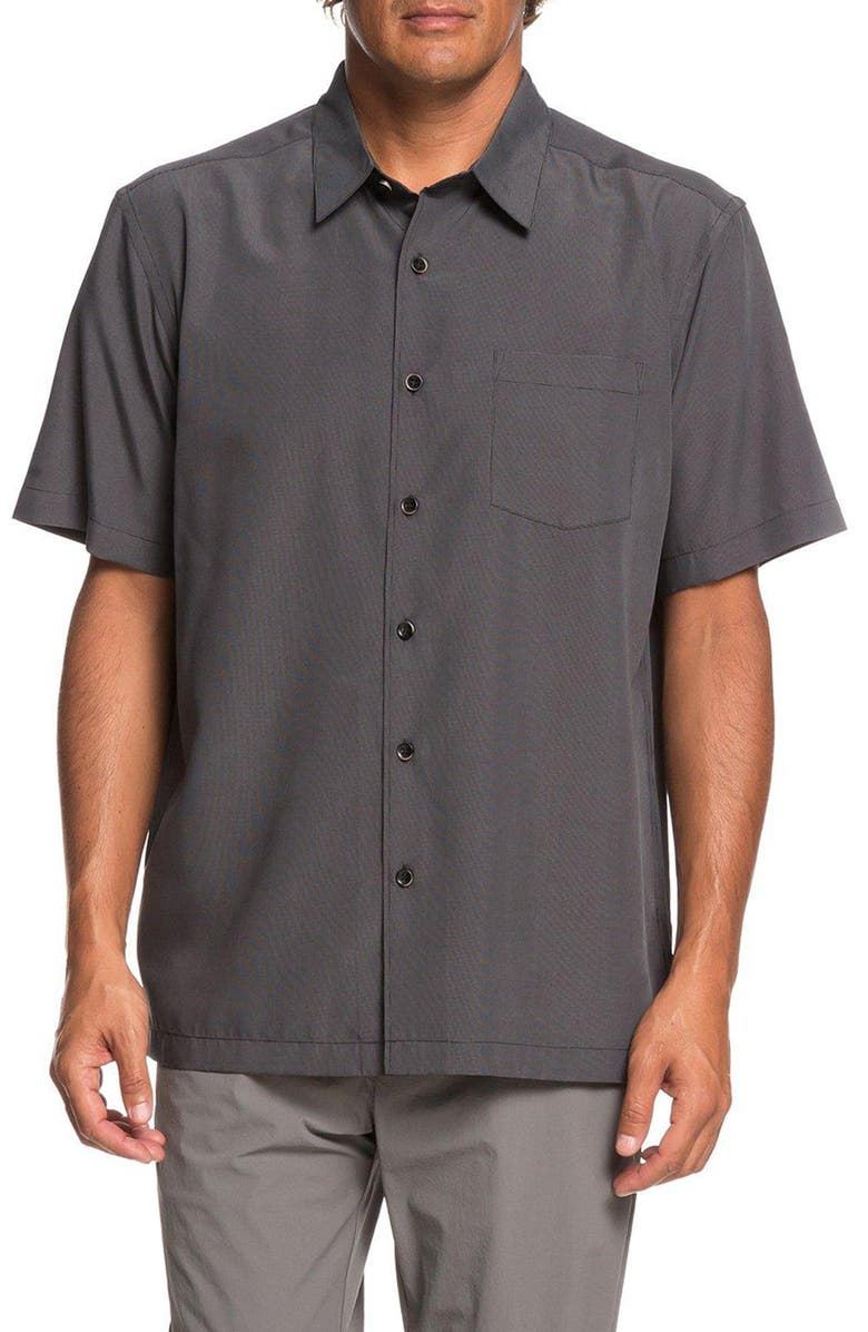 QUIKSILVER WATERMAN COLLECTION Cane Island Regular Fit Camp Shirt, Main, color, 002