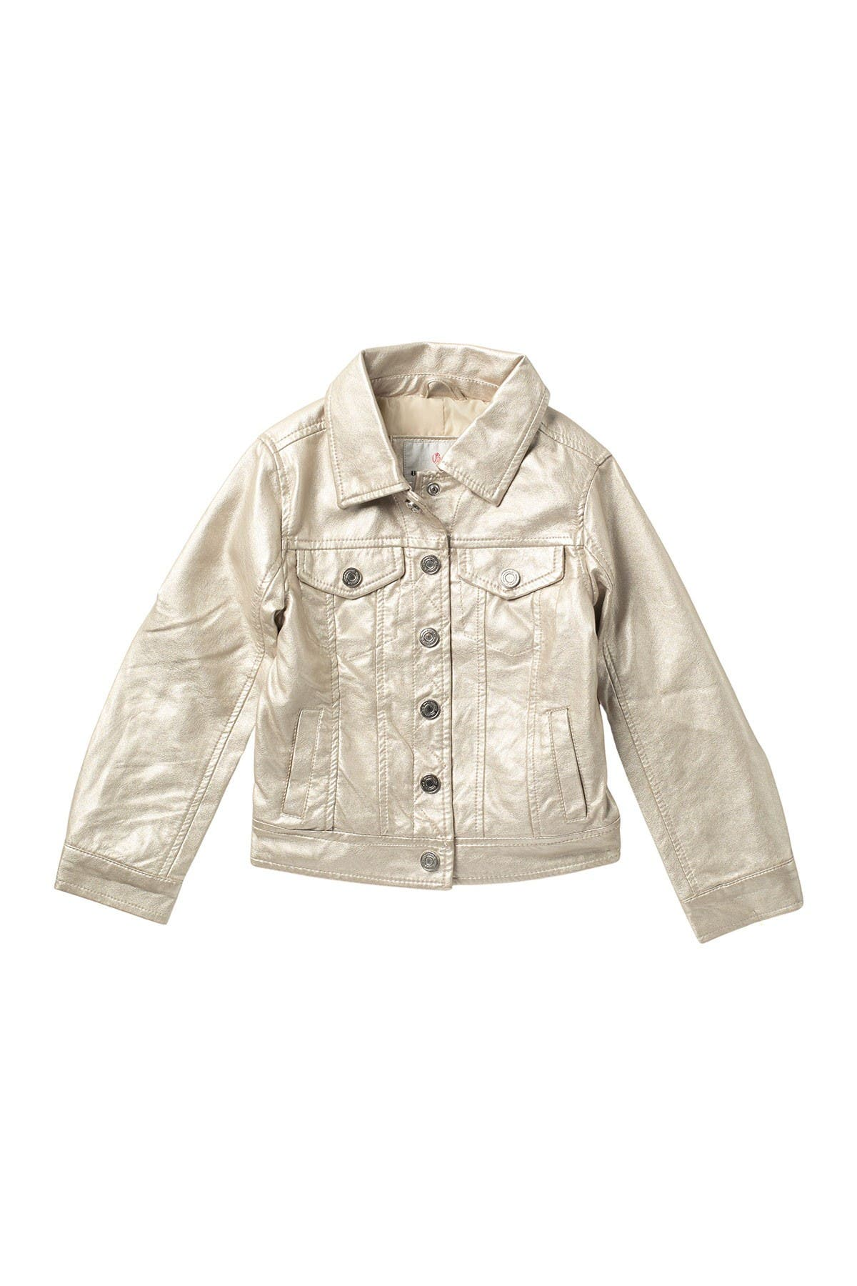 Image of Urban Republic Metallic Faux Leather Trucker Jacket