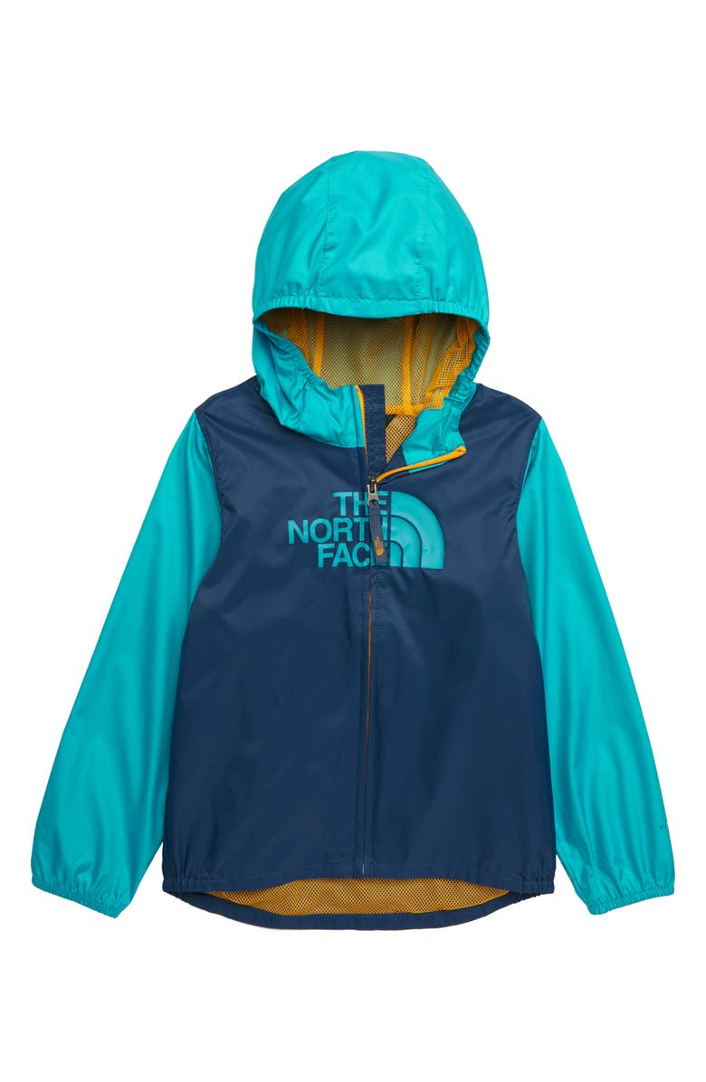 THE NORTH FACE Flurry WindWall<sup>®</sup> Water Repellent Windbreaker Jacket, Main, color, SHADY BLUE