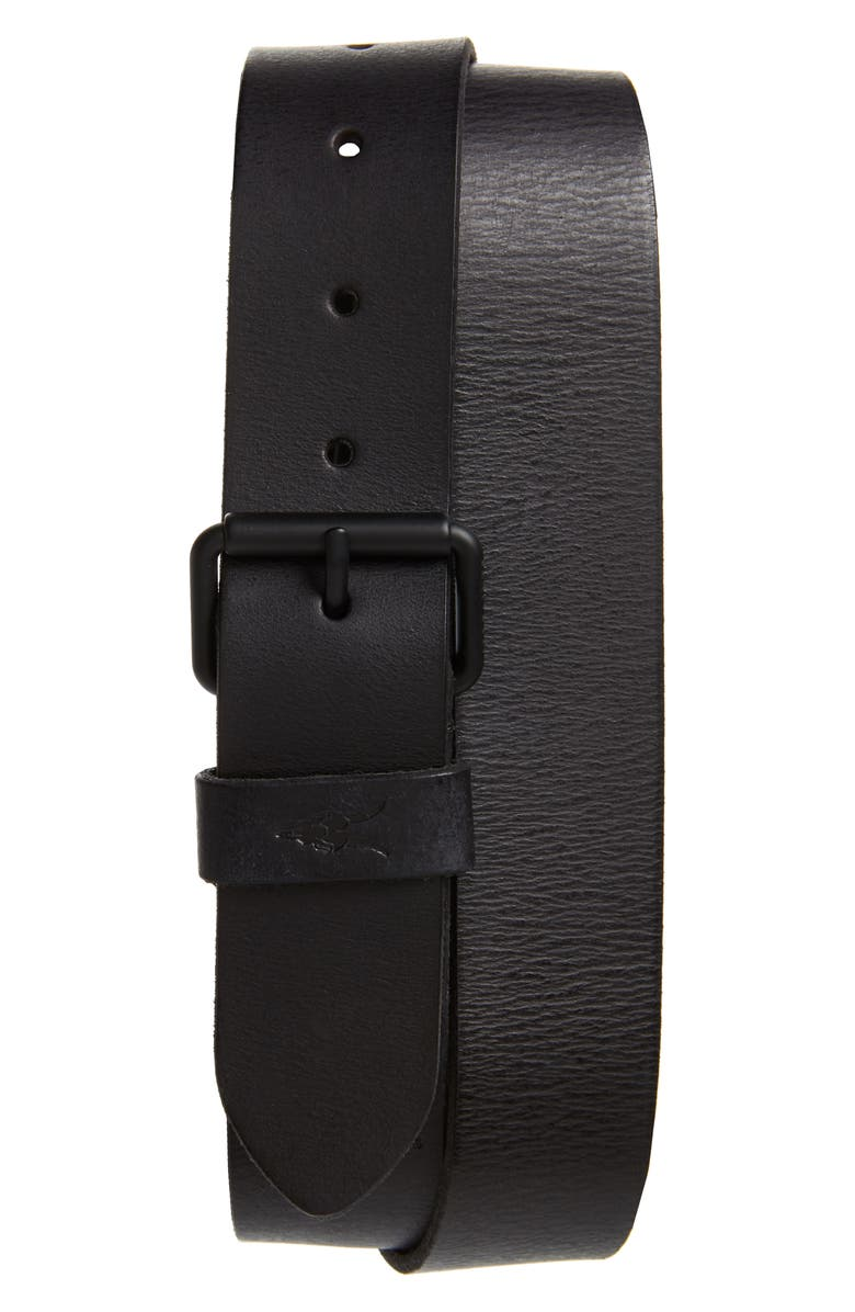 ALLSAINTS Leather Belt, Main, color, BLACK