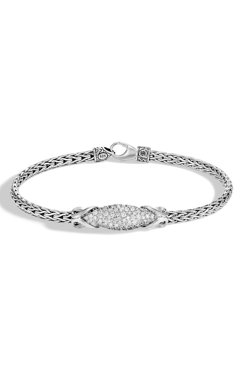JOHN HARDY Asli Classic Chain Pavé Diamond Bracelet, Main, color, 040