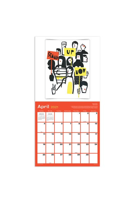 Image of TF Publishing 2021 Posters for Change Wall Calendar