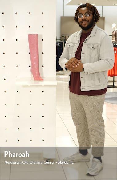 Croc Embossed Knee High Boot, sales video thumbnail