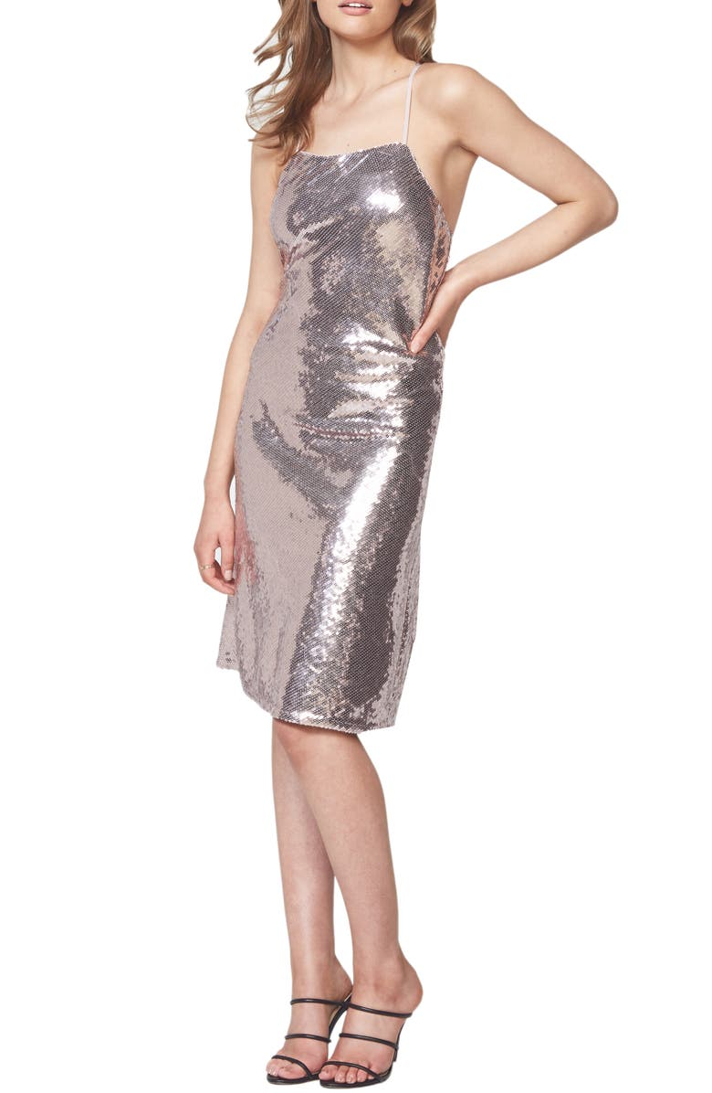 BARDOT Sequin Slipdress, Main, color, 041