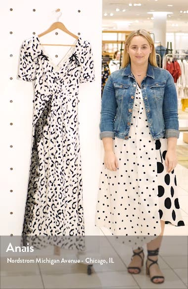 Leopard Print Twist Front Dress, sales video thumbnail