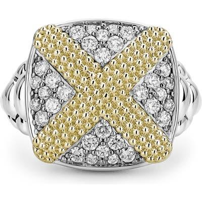 Lagos Caviar Lux Diamond Pave Cushion Ring