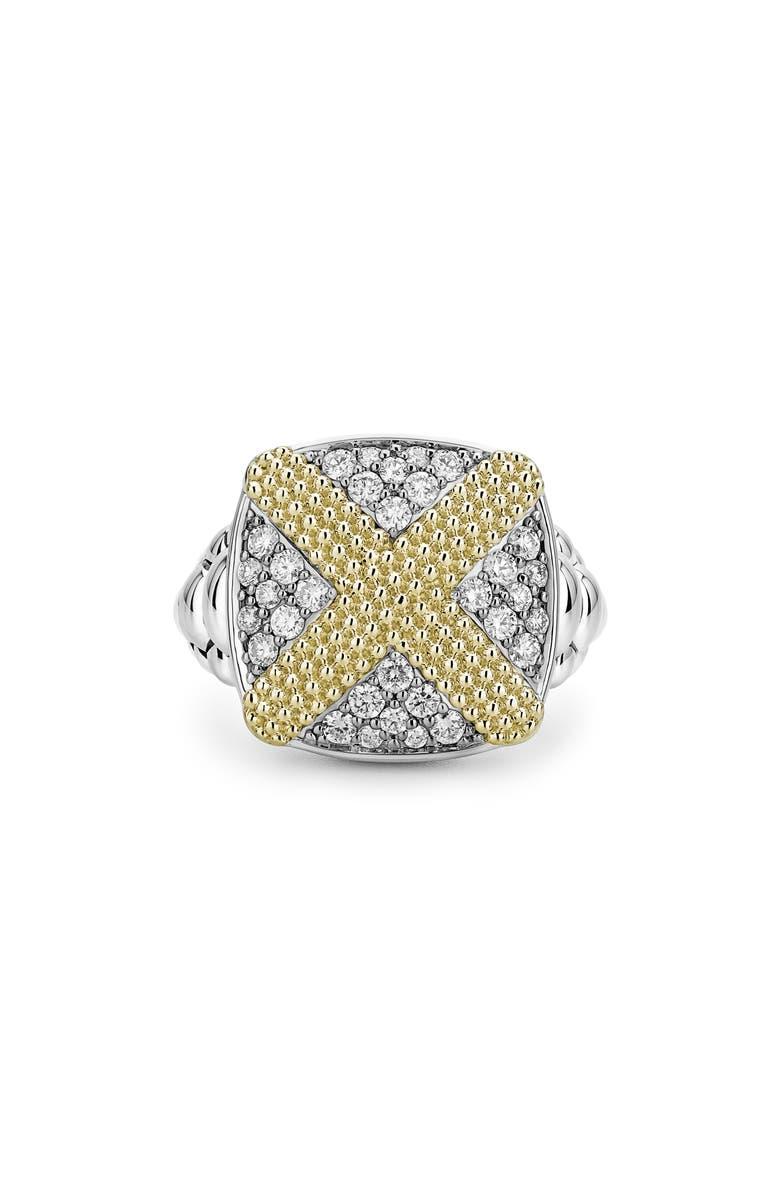 LAGOS Caviar Lux Diamond Pavé Cushion Ring, Main, color, 710
