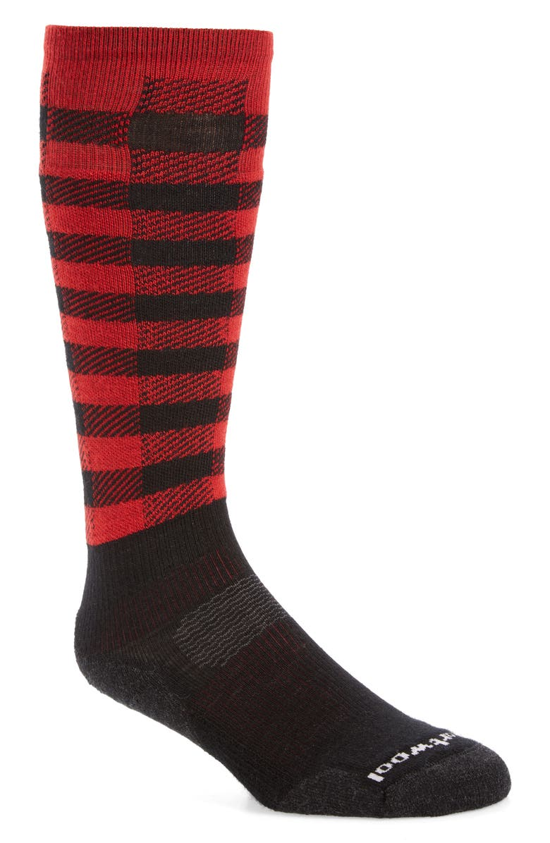 SMARTWOOL PhD<sup>®</sup> Slopestyle Light Ifrane Over the Calf Socks, Main, color, 001