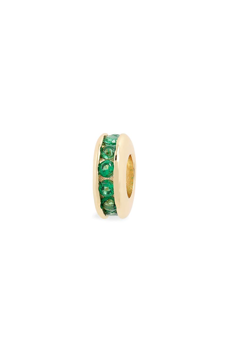 MELINDA MARIA Icons Pavé Spacer Charm, Main, color, GOLD/ EMERALD