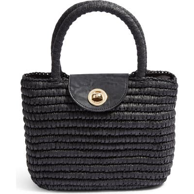 Topshop Mini Finch Woven Top Handle Bag - Black