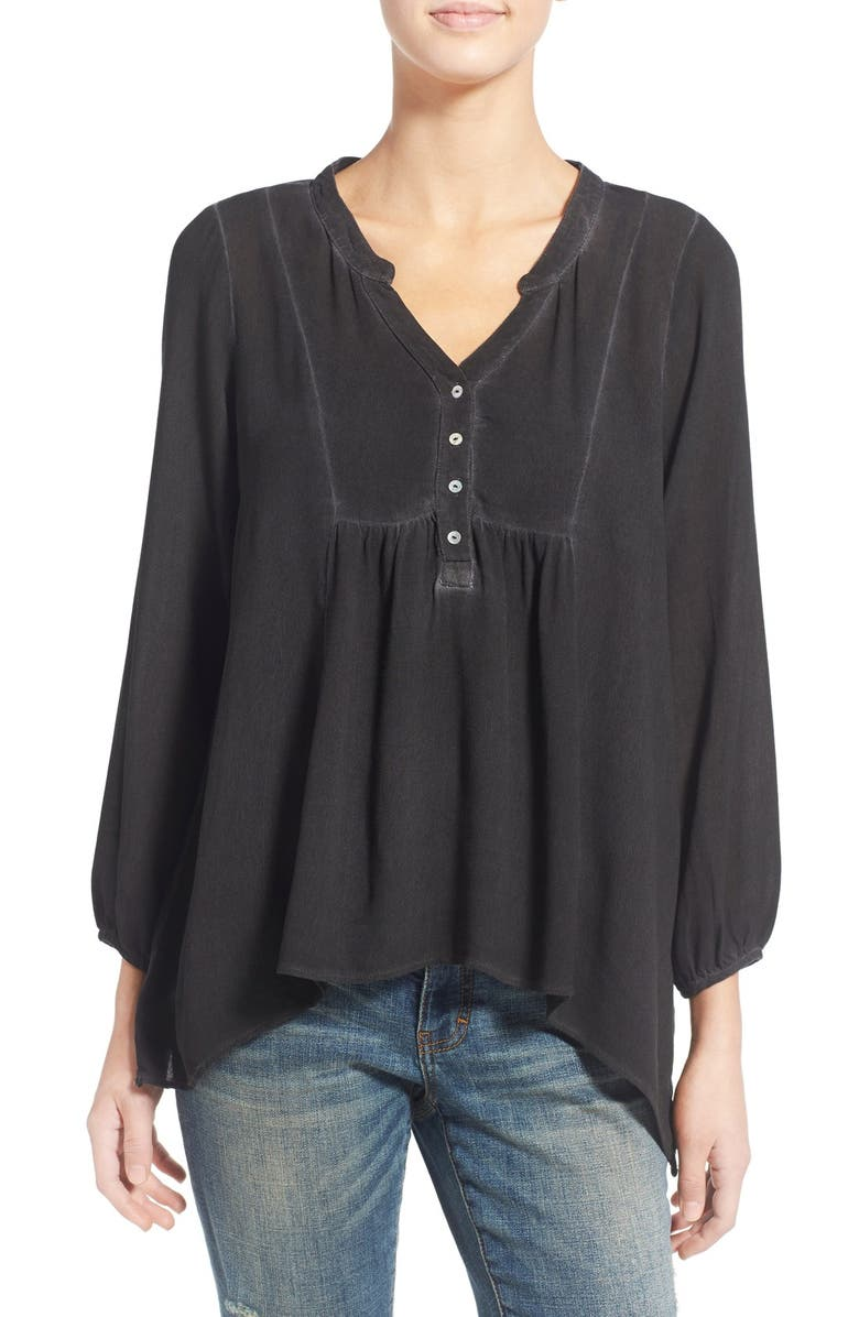 SOCIALITE Washed Peasant Blouse, Main, color, 001