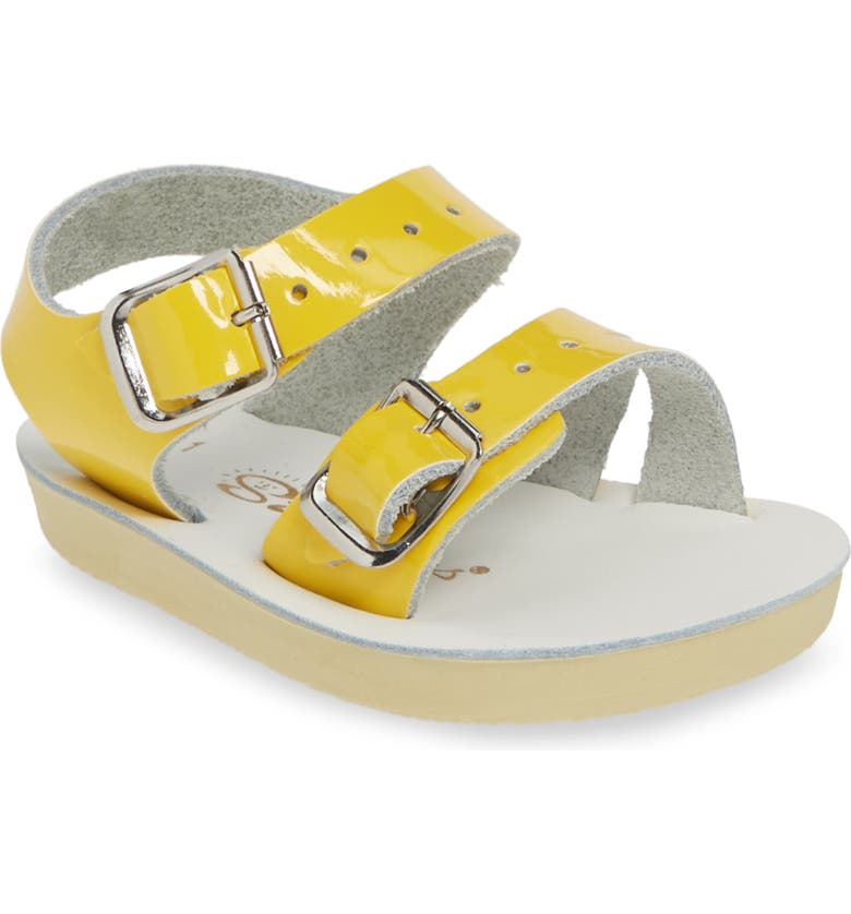 SALT WATER SANDALS BY HOY Sea Wee Water Friendly Sandal, Main, color, SHINY YELLOW