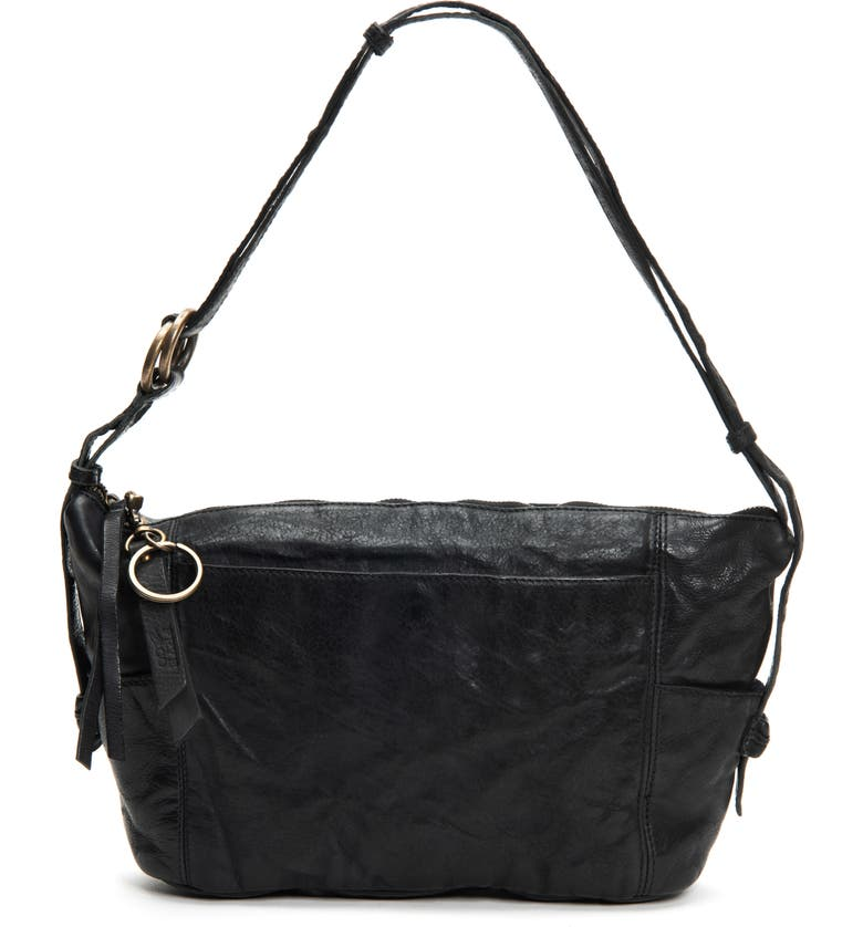 FRYE AND CO Jolie Leather Crossbody Bag, Main, color, BLACK