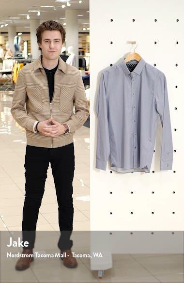 Cedar Slim Fit Geometric Floral Button-Up Shirt, sales video thumbnail