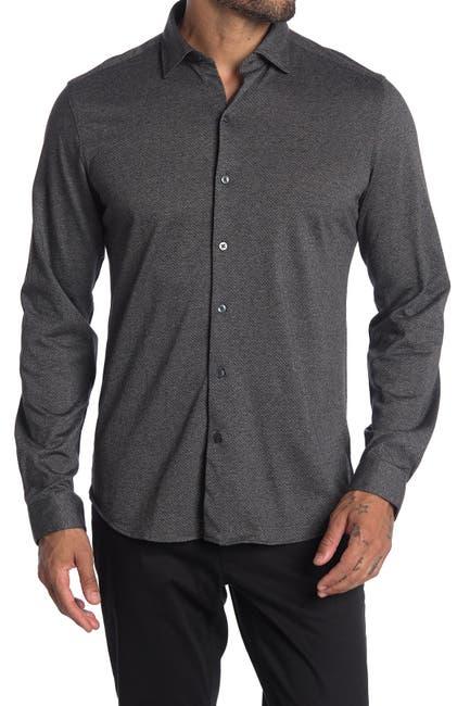 Image of ROBERT BARAKETT Guelph Regular Fit Knit Button-Up Shirt
