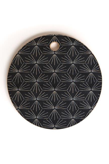 Image of Deny Designs Holli Zollinger Sun Tile Dark Round Cutting Board