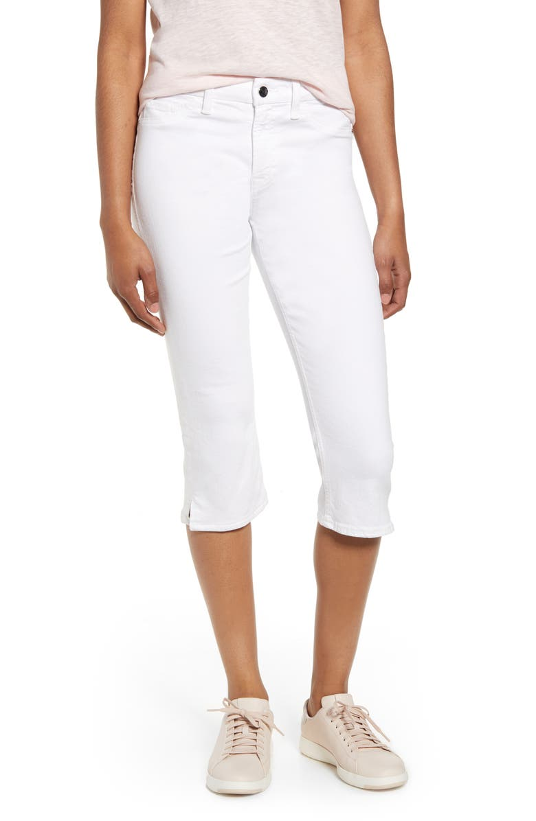 JEN7 BY 7 FOR ALL MANKIND Capri Jeans, Main, color, WHITE
