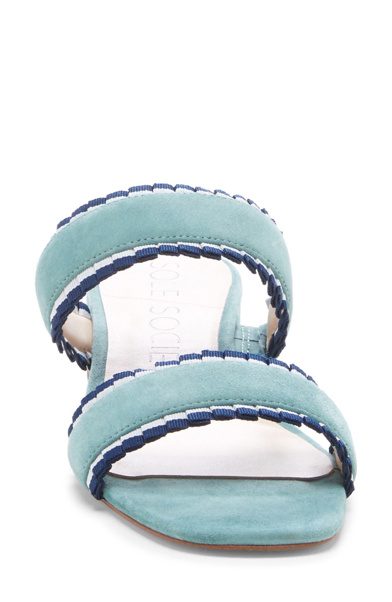,                             Elura Slide Sandal,                             Alternate thumbnail 4, color,                             LIGHT SEA GREEN SUEDE