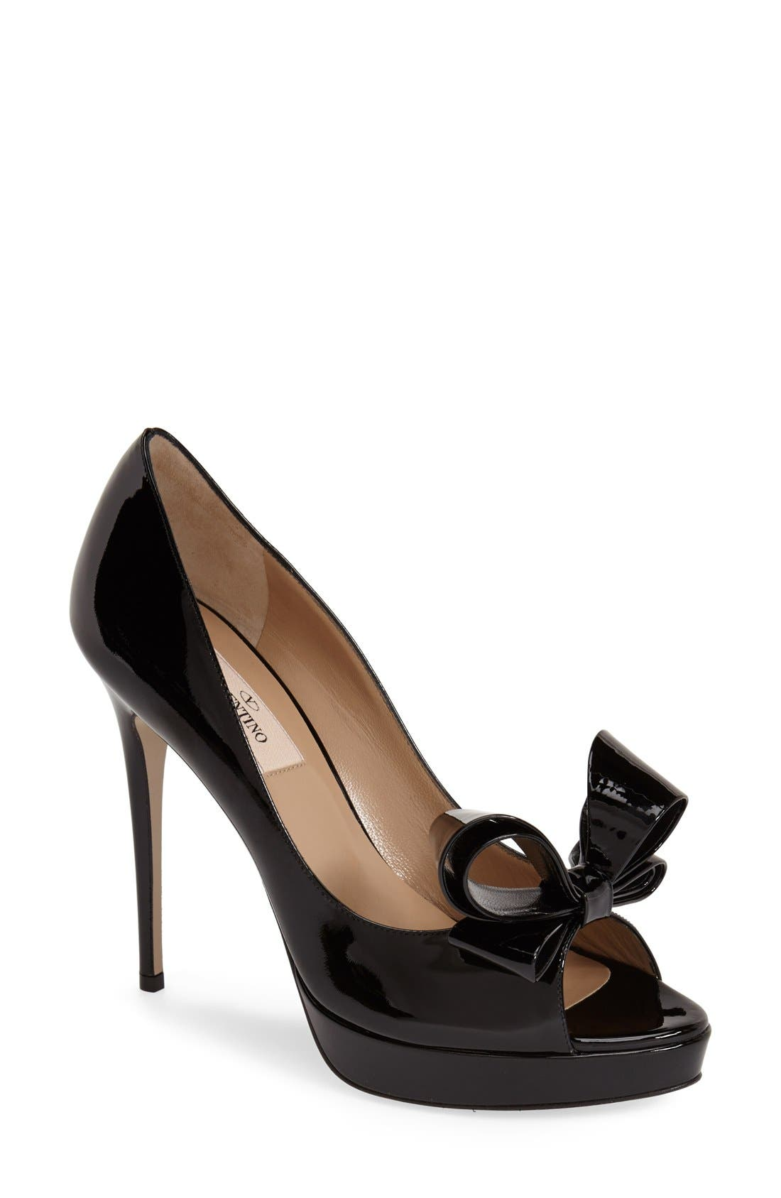 Couture Bow Platform Pump, Main, color, 001