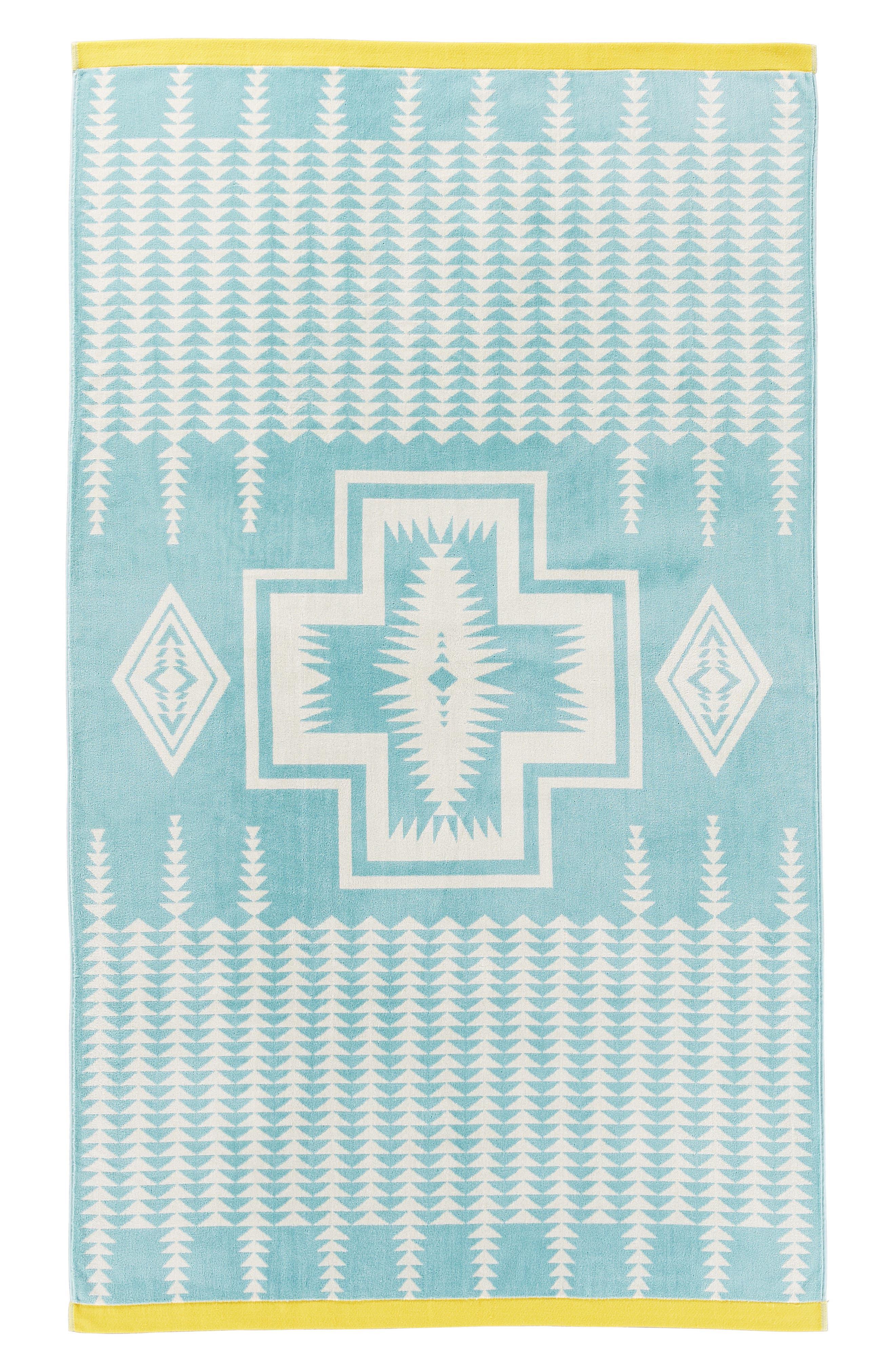 Pendleton Harding Oversize Jacquard Towel Size One Size  Blue