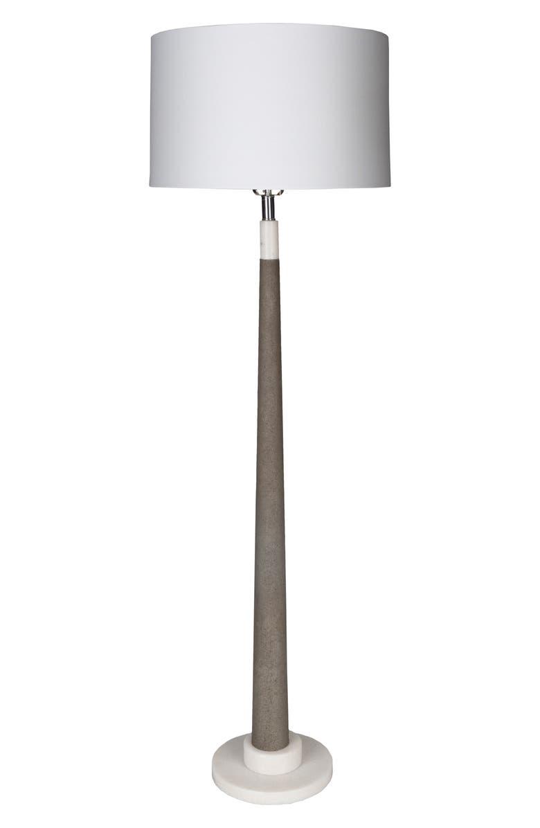 SURYA HOME Ellison Floor Lamp, Main, color, BLACK