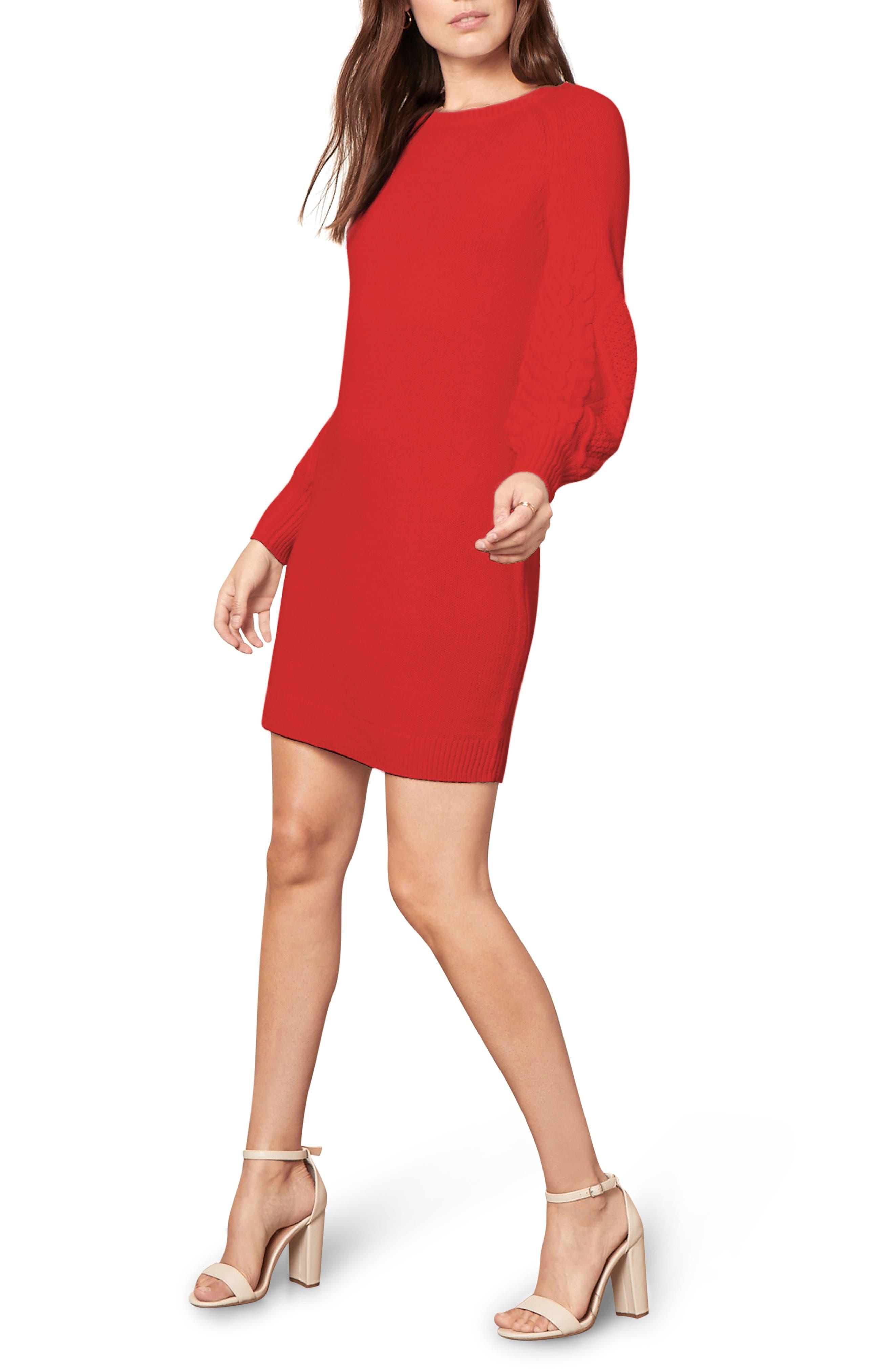 Image of BB Dakota Seen Sweater Days Long Sleeve Minidress