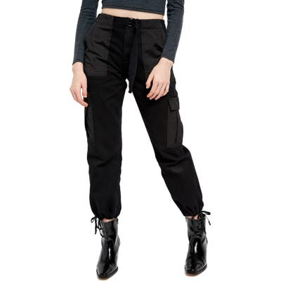 Bdg Urban Outfitters Belted Twill Cargo Pants, Black