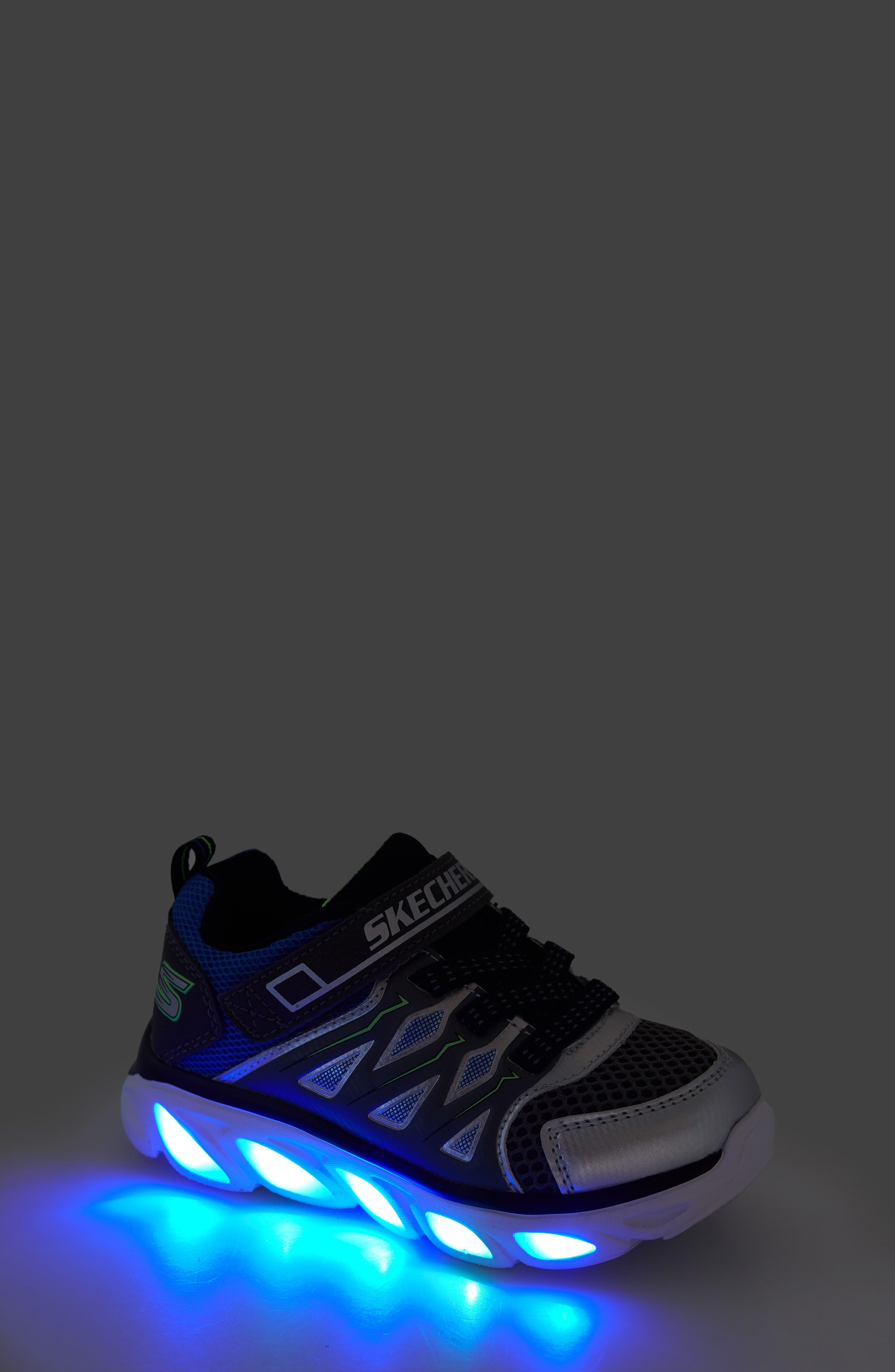 ,                             Hypno-Flash 3.0 Light-Up Sneakers,                             Alternate thumbnail 7, color,                             SILVER/ BLUE