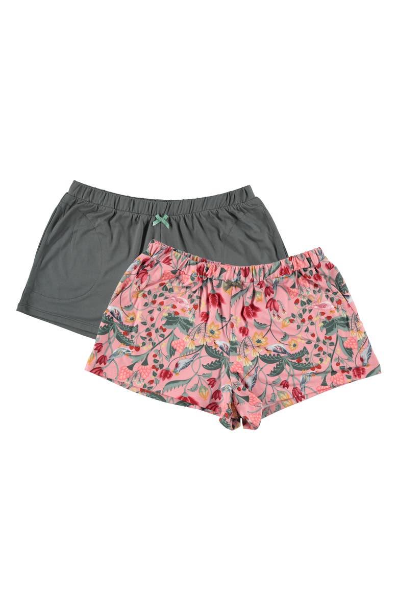 FLORA NIKROOZ 2-Pack Lounge Shorts, Main, color, ROSE