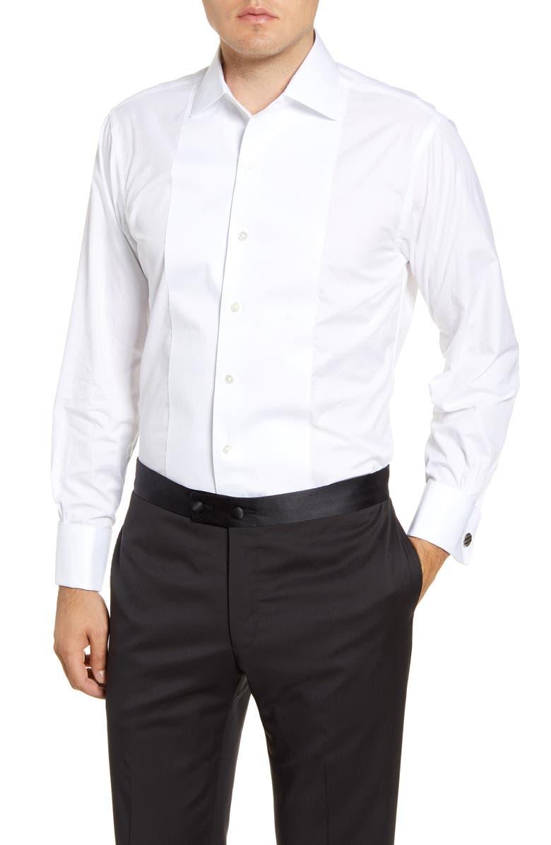 BROOKS BROTHERS Regent Regular Fit Formal Shirt, Main, color, WHITE