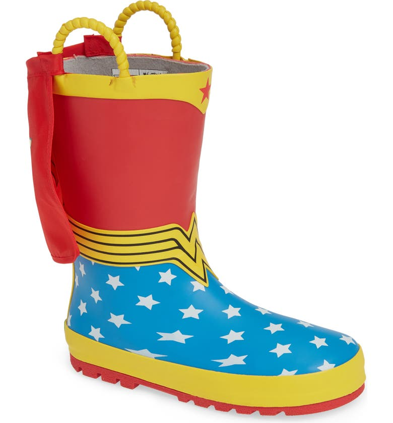 a995d9ac Western Chief Wonder Woman Waterproof Rain Boot (Walker, Toddler ...