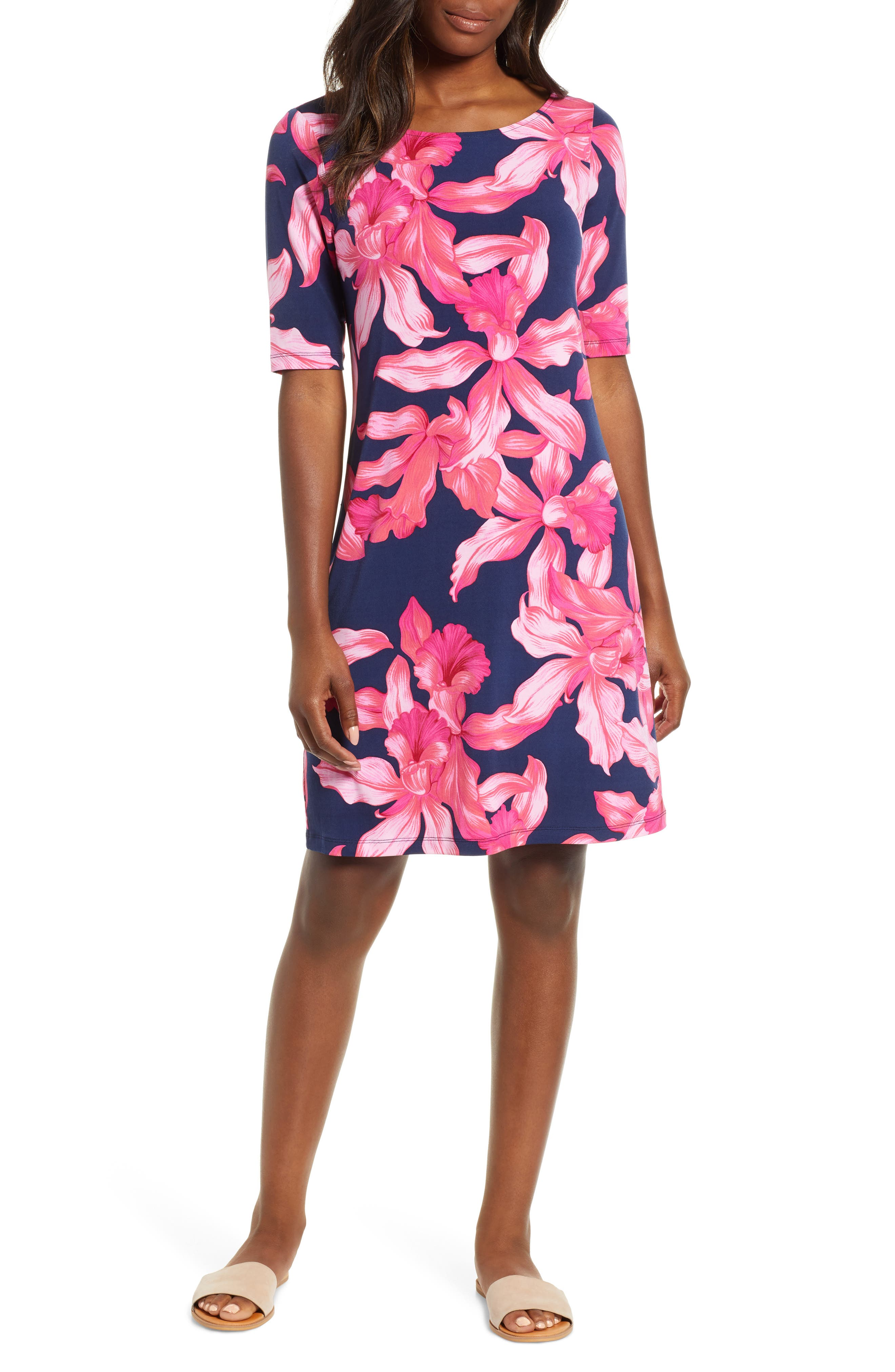 Tommy Bahama Orchid Rua Dress, Blue