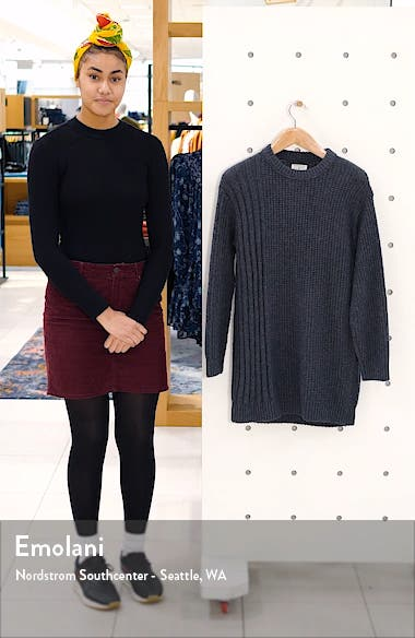 Long Sleeve Crewneck Sweater Dress, sales video thumbnail