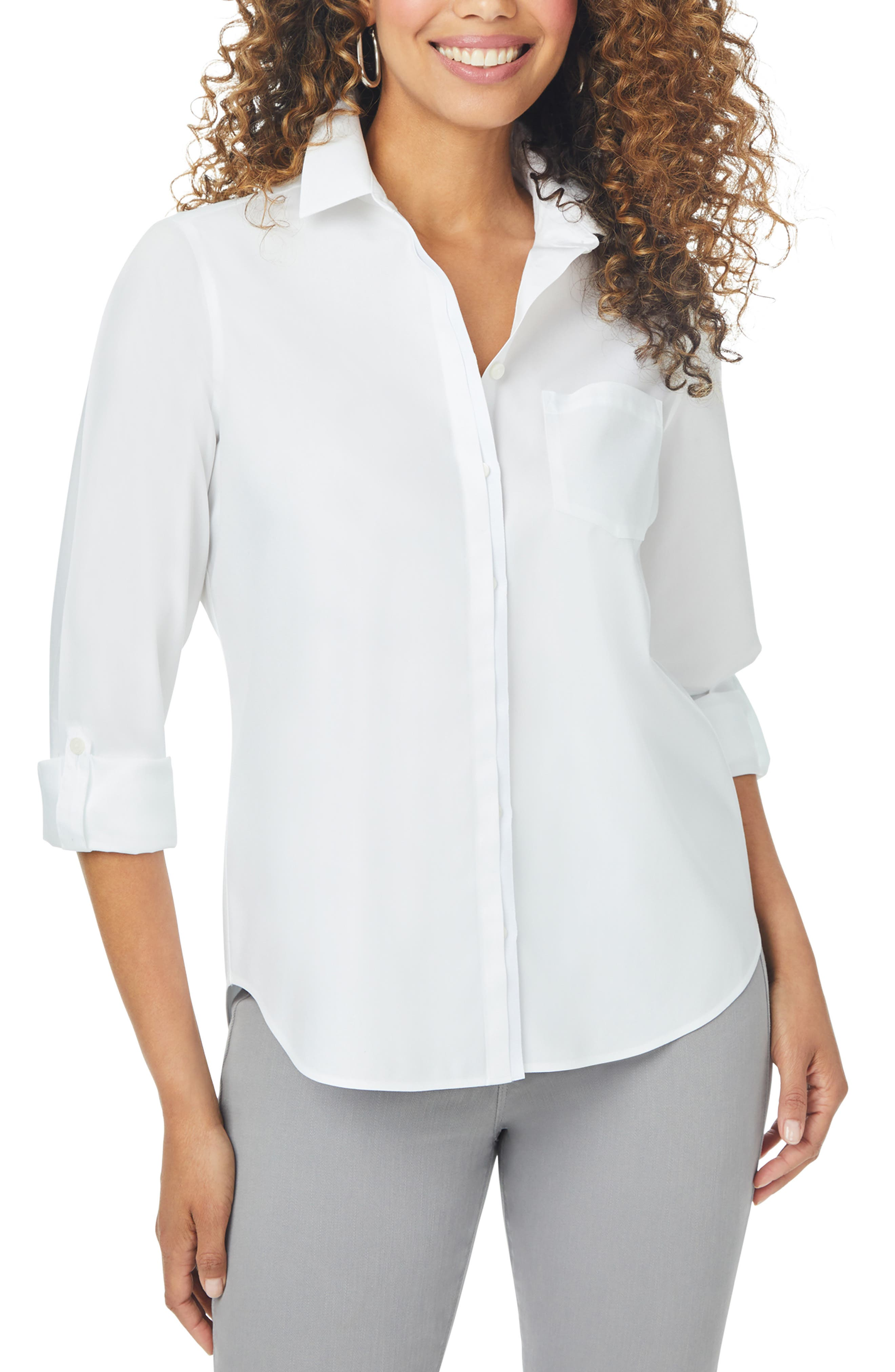 Charlie Grosgrain Trim Non-Iron Cotton Button-Up Shirt