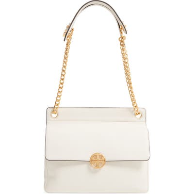 Tory Burch Chelsea Flap Leather Shoulder Bag - White